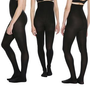 Spanx Black High Waisted Tights Red Hot Pantyhose